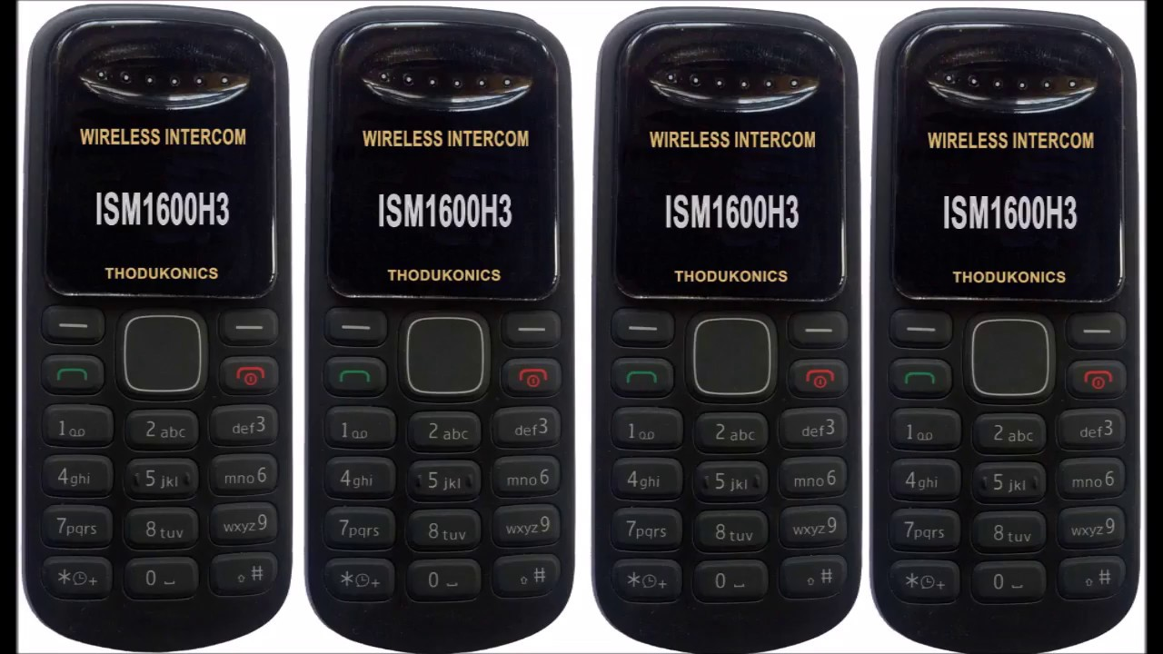 1000 User Mobile Intercom Wireless Thodukonics New 900Mhz ISM1600H3 And ISM1600H4