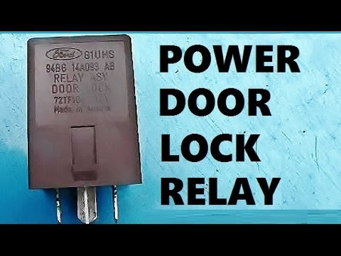 How to Remove Install Power Door Lock Relay YouTube