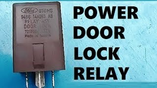 How to Remove Install Power Door Lock Relay