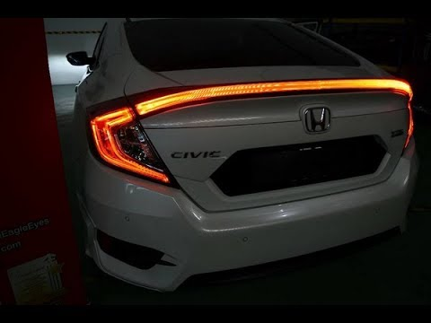 Close Up View Actual Installation Honda Civic Fc Si Coupe Concept Center Trunk Tail Light