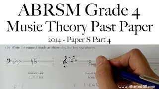 ABRSM Music Theory Grade 4 Past Paper 2014 S Part 4 with Sharon Bill