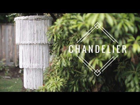 DIY BEADED CHANDELIER - EASY & CHEAP!