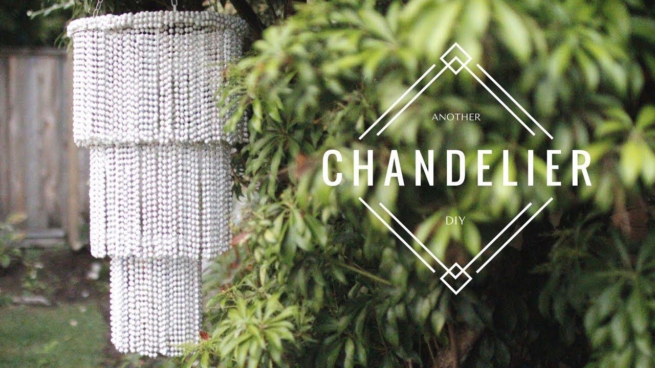 DIY BEADED CHANDELIER - EASY & CHEAP! - YouTube