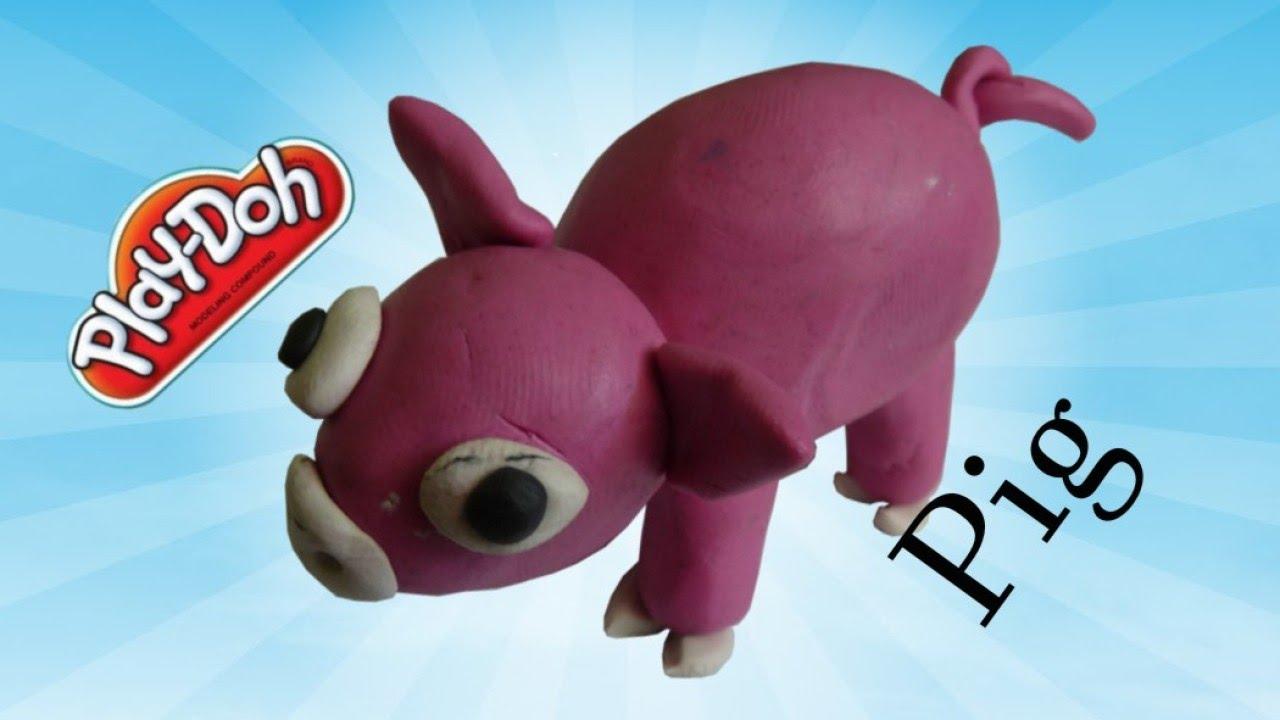 Childrens clay craft Piglet