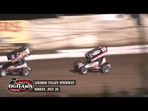 Highlights: World of Outlaws Sprint Cars Lebanon Valley Speedway July 26th, 2015