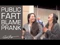 Public Fart Blaming Prank!