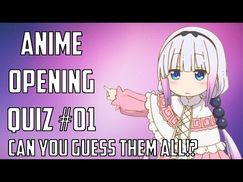 Anime Opening Quiz! Can You Guess Them All!? #01 [30 Songs] [2018]