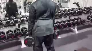Legs with the professor. Heavy volume and heavy weight