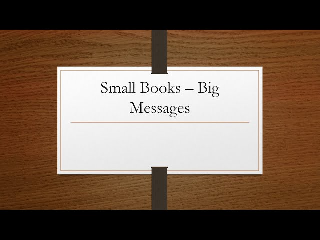 Small & Big, Part 3: Spiritual Health · 210509 AM · Ross Kilfoyle