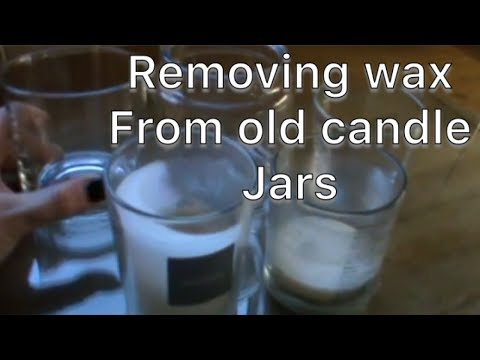 Removing wax from a candle jar ** QUICK DIY **