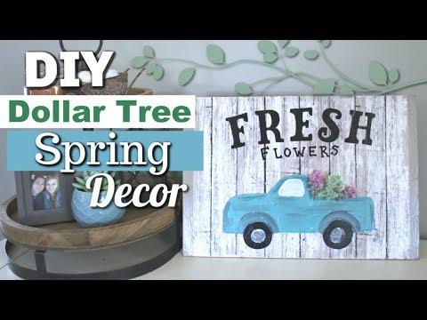 DIY Farmhouse Spring Decor | Dollar Tree Spring Decor DIY | Krafts by Katelyn