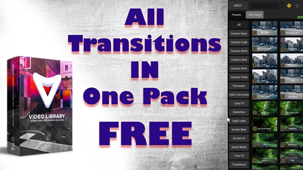 All Transitions in One Pack Free After Effects Plugins