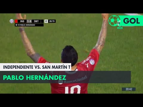 Pablo Hernández (1-0) Independiente vs San Martín T | Fecha 1 - Superliga Argentina 2018/2019