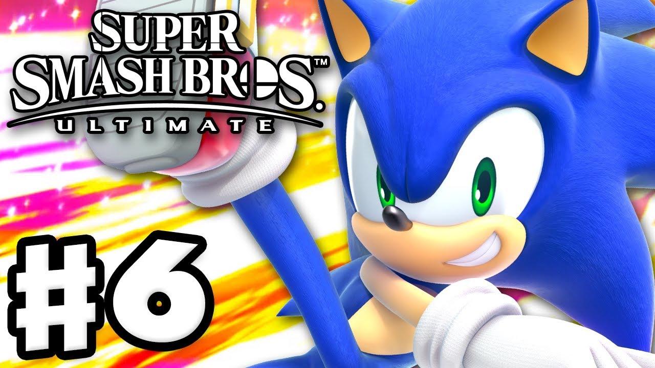 Sonic Super Smash Bros Ultimate Gameplay Walkthrough Part 6 Nintendo Switch