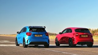 DRAG RACE! Mercedes A45 AMG - TUNED VS STOCK