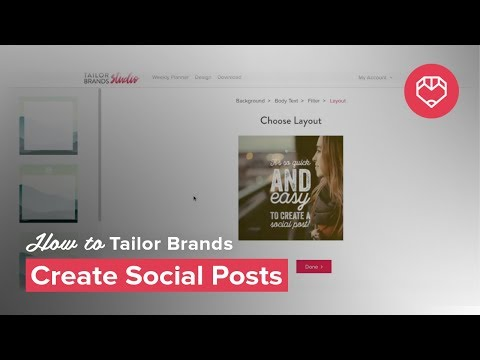 Social Post Feature - Tailor Brands Tools