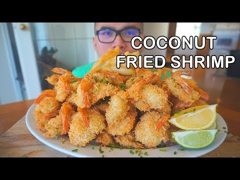 How to make COCONUT SHRIMP & ONION RINGS *Mukbang