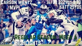 Carson Wentz Week 6 Regular Season Highlights Toughness   10/12/2017