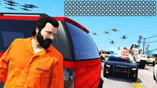 GTA 5 - 100 STAR WANTED LEVEL!! (Can We Escape?)