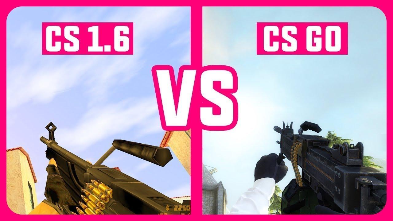 CS 1.6 vs CS GO Gun Sounds | Graphics Comparison ( 2018 )