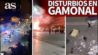 Disturbios en Gamonal contra la Policía: pedradas y quema de contenedores por la restriccion | AS