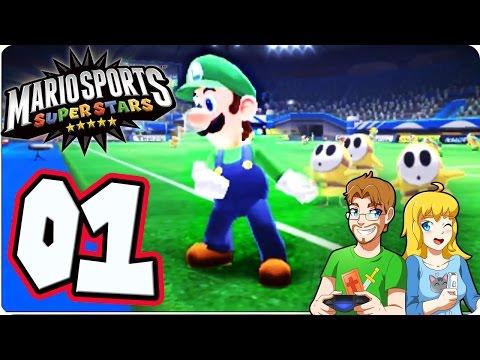 Mario Sports Superstars PART 1 Soccer Match #TeamLuigi