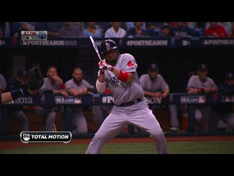 Victorino sets LDS record for hit-by-pitches