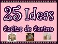 25 Ideas de Casitas de Carton para Niños. 25 Ideas Cardboard House Childrens