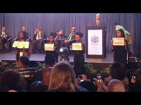 Anti-rape protesters disrupt Zuma's speech