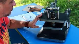 Обзор ручного пресса для кожи Hand press for leather