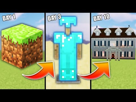 Can I Trade From a Dirt Block to a Mansion in Minecraft | Minecraft Trade Up E1