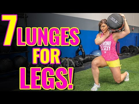 TOP 7 Variations of Walking Lunges for KILLER LEGS & GLUTES!