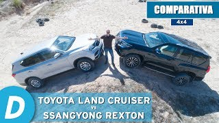 Comparativa 4x4 ¡al límite!:Toyota Land Cruiser vs SsangYong Rexton   Prueba offroad   Diariomotor