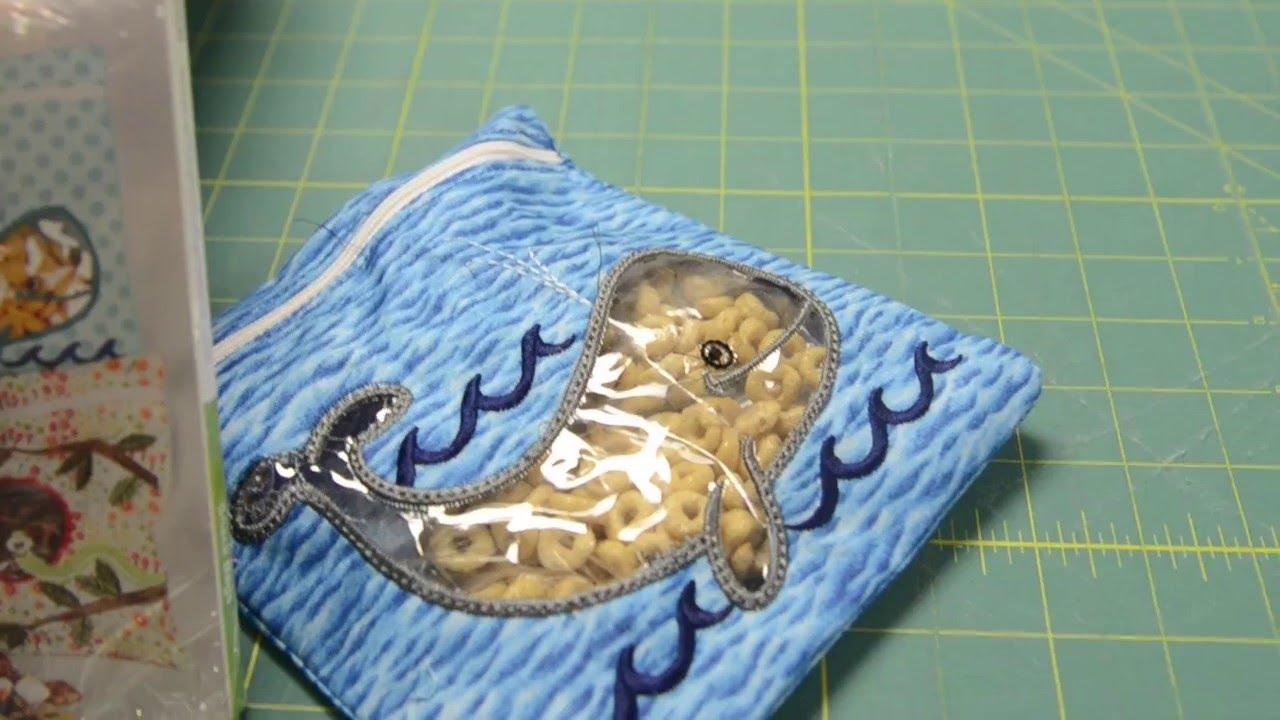 Anita Goodesign Snack Bags Quick Stitch Youtube