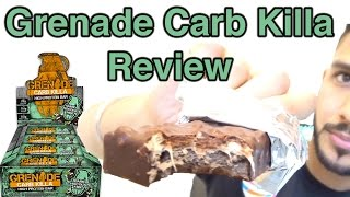 Grenade Carb Killa Chocolate Mint Protein Bar | Low Carb |Review UK