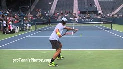 Tommy Haas v Fabio Fognini 2013 US Open practice