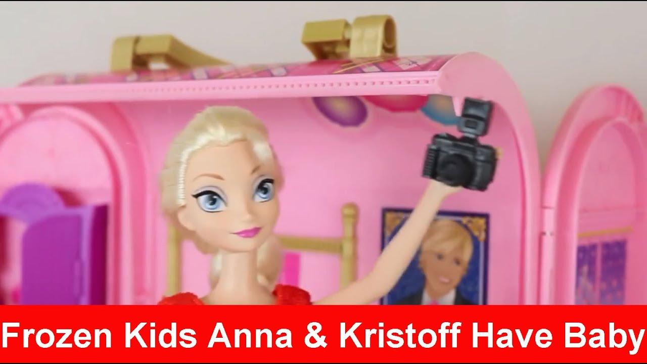 Frozen Kids Anna Kristoff Have Baby Krista Elsa Barbie ...