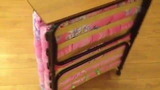"""Раскладная кровать """"Альфа 80"""" в сложенном виде. Обзор раскладных кроватей и раскладушек."""