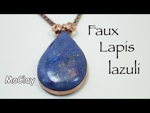 How to make faux Lapis Lazuli - New polymer clay technique