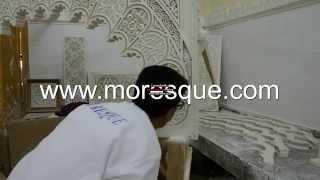 Moresque Mohammed Naji Platre Sculpte
