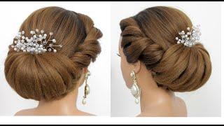 Легкая прическа на длинные волосы с плетением