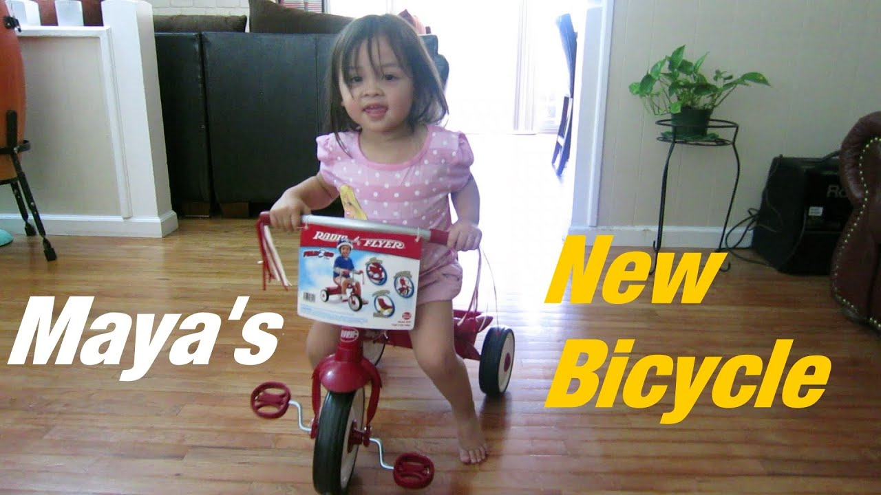 Family Toy Channel My 2 Year Old Girls New Bicycle Maya -4384