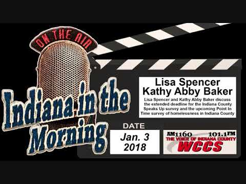 Indiana in the Morning Interview: Lisa Spencer and Kathy Abby Baker (1-3-18)