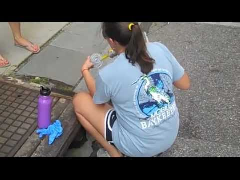 Marking Storm Drains in Downtown Mobile!