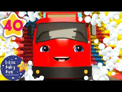 Cantec nou: Carwash Song with Go Buster! | +More Nursery Rhymes & Kids Songs | Baby Songs | Little Baby Bum