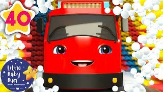 Carwash Song With Go Buster! | +more Nursery Rhymes & Kids Songs | Baby Song