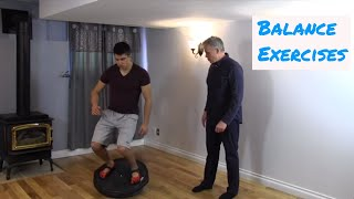 Balance Exercises with the Bosu Ball