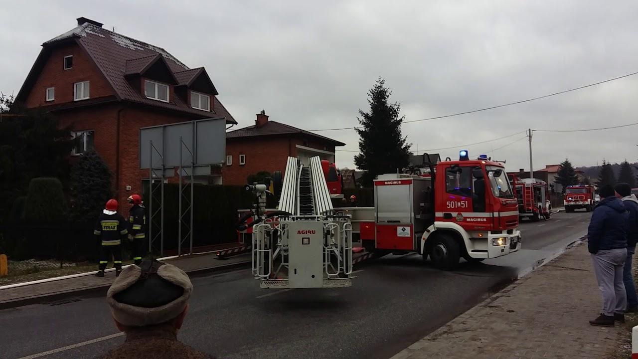 Pożar domu w Bochotnicy