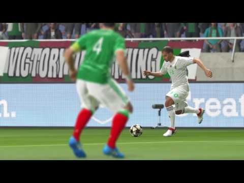 كأس العالم الجزائر ضد المكسيك MEXICO VS ALGERIA group stage 1st match world cup  PS4 PES2016