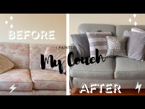 I Painted My Couch!! | How To Paint A Couch With Chalk Paint | DIY Thrift To Treasure